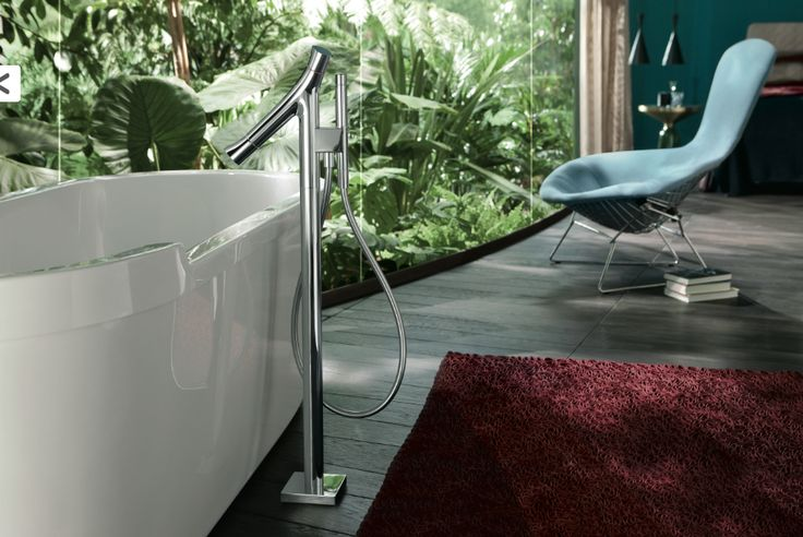 Hansgrohe Axor bathtub with free standing bath filler.