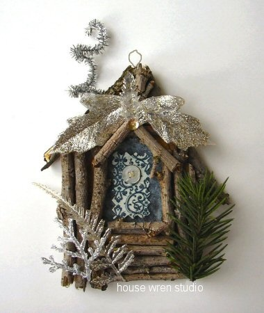 twig house ornament