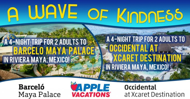 #BeKind for your chance to win a trip to Mexico from @apple