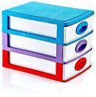 Plastic 3 Drawer Storage Unit Craft Organizer Desktop Cabinet Cupboard Bedroom