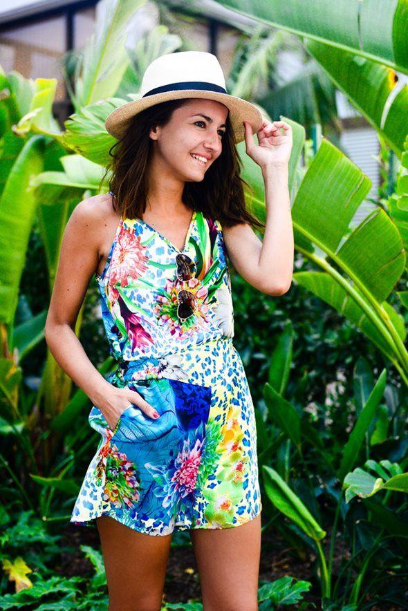 夏満開!カラフル総柄ロンパース♡ 人気のおすすめモテ系ロンパースの一覧。レディースファッションのトレンドコーデ♪