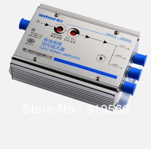 С высоким коэффициентом усиления 30DB кабельное телевидение сигнала усилитель сплиттер кабельного телевидения усилитель 3 выход SB-8830H3 / EH3