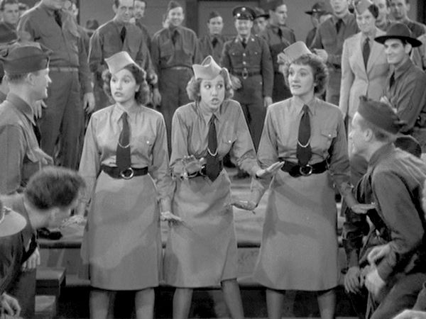 """02 Jan 41: The Andrews Sisters record """"Boogie Woogie Bugle Boy"""" at Decca's Hollywood studios as part of the production of the Abbott & Costello film """"Buck Privates."""" The jump blues song was a major hit for The Andrews Sisters and endures to this day among the most iconic World War II tunes. It is ranked number 6 on the Recording Industry Association of America """"Songs of the Century"""" list. #WWII #History"""