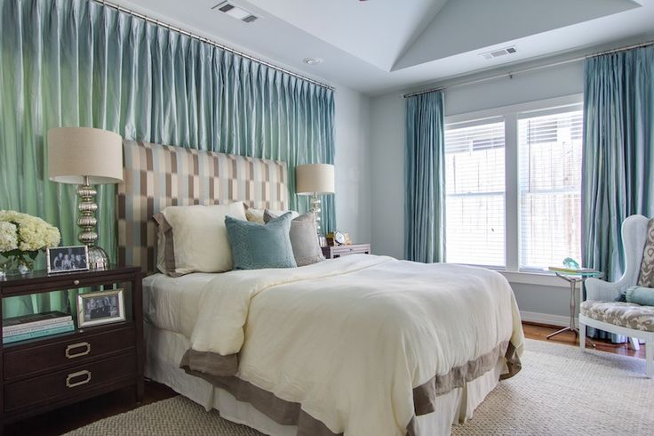 #curtains, #bedroom, #blue, #walls    Read More: http://www.stylemepretty.com/living/2014/07/08/colorful-home-tour-3/