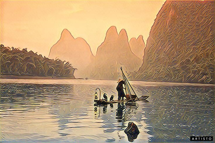 Рыбалка на реке Юйлун, которую называют еще «Драконьей рекой».    Если верить древней китайской легенде, река получила свое имя из-за дракона, что остался жить в этих краях, пораженный красотой места.   Там и правда очень красиво, дракона легко понять :)