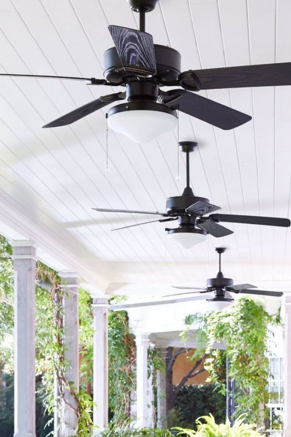 Weatherproof Outdoor Fans Are Perfect For Your Porch Or Patio Modern Farmhouse Style Outdoor Fan Outdoor Ceiling Fans Ceiling Fan Ceiling Fan With Light
