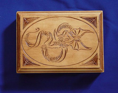 Chip carving by bill mackay dragon box wood working