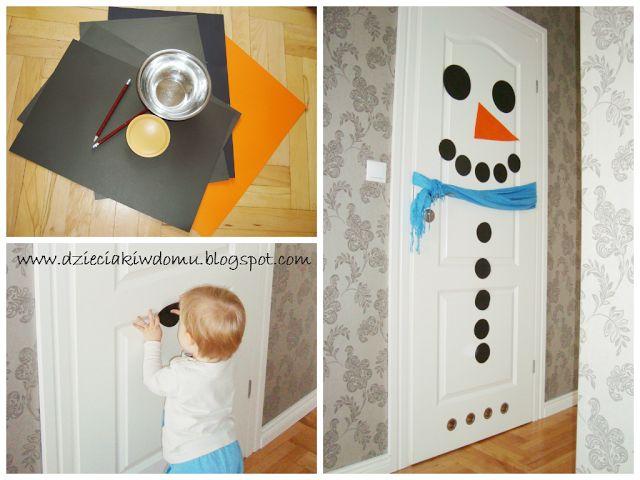 snowman crafts - bałwanki - projekty dla dzieci