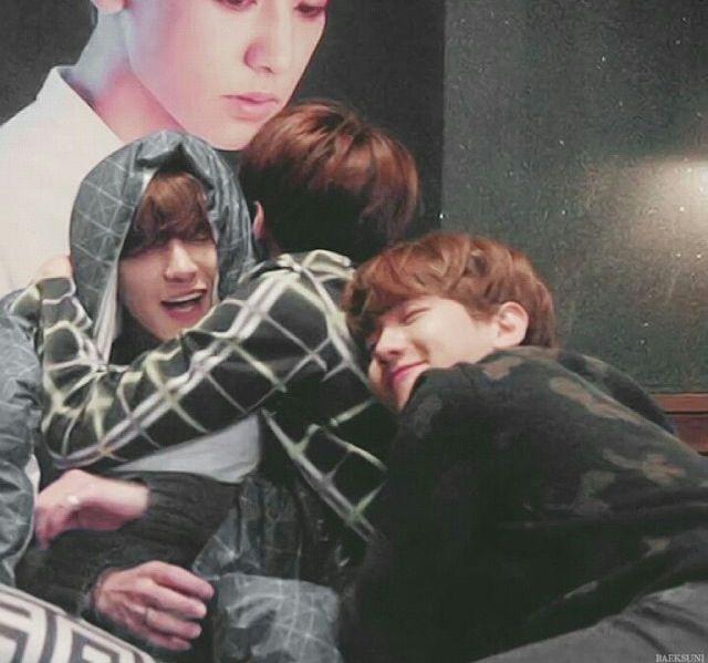 Baekhyun, Sehun and Chanyeol being cute