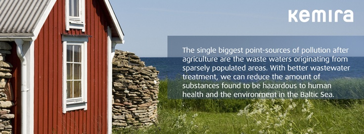 The single biggest point-sources of pollution after agriculture are the waste waters originating from sparsely populated areas. With better wastewater treatment, we can reduce the amount of substances found to be hazardous to human health and the environment in the Baltic Sea.
