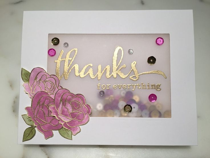 Elegant Thank You Shaker by DoofyJEss2 - Cards and Paper ...