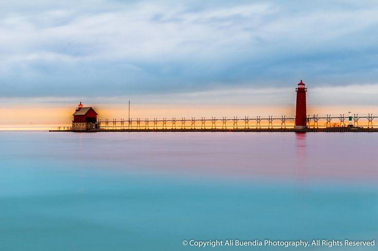 Flat perspective at Grand Haven Michigan