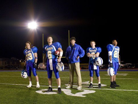 Kyle Chandler, Zach Gilford, Taylor Kitsch, Gaius Charles and Scott Porter in Friday Night Lights