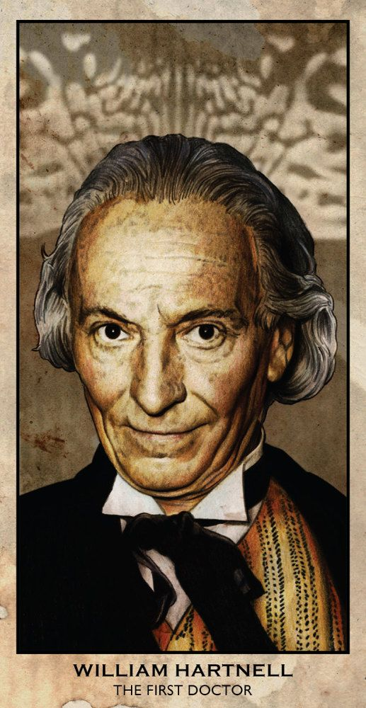 "THE MOST SADISTIC DOCTOR GETS A BEAUTIFUL PORTRAIT BY LEE OVER AT DADMANCULT!!!   Doctor Who - William Hartnell - The First Doctor - 6 x 3.5"" Digital Print"