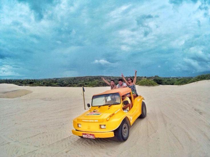 Paseo en Bugui, duna de Genipabú. Natal, RN. Brasil