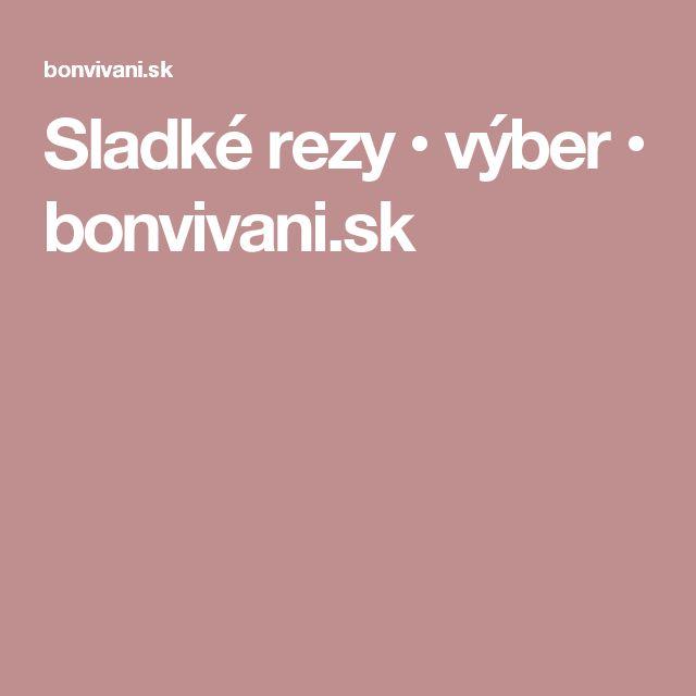 Sladké rezy • výber • bonvivani.sk