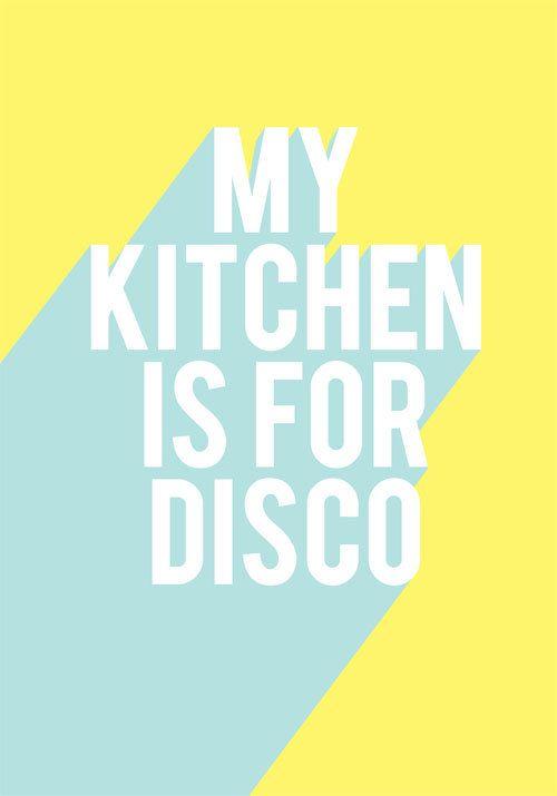 My Kitchen Is For Disco by Laine Fraser - Designer and Illustrator