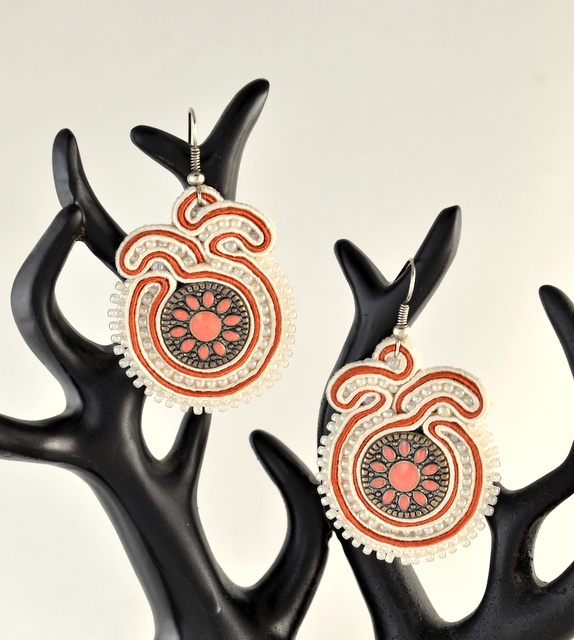kolczyki sutasz soutache earrings 27a