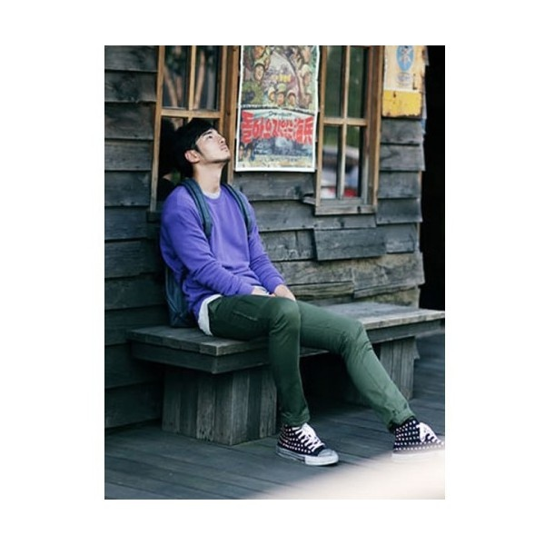 Buy Men Cotton Purple Round Neck Long Sleeves Casual Tops M/L/XL/XXL... via Polyvore