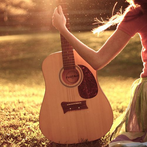 """""""Nothing is more beautiful than the sound of the guitar."""" F. Chopin * Love the feeling of playing so much! ❤️"""