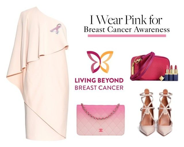 """""""I wear pink for breast cancer awareness"""" by polychampion-805 ❤ liked on Polyvore featuring Soma, Givenchy, Bling Jewelry, Chanel, Valentino and IWearPinkFor"""