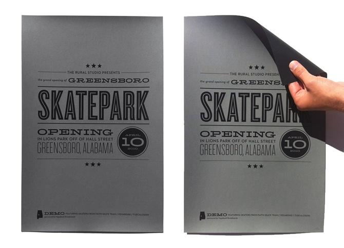 Skatepark Opening typographical poster