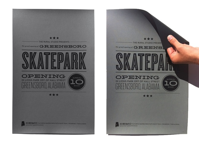 Skatepark Opening typographical poster