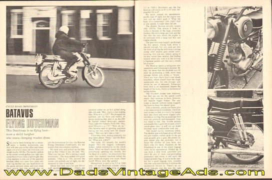 1967 Batavus Flying Dutchman Cycle Road Impression