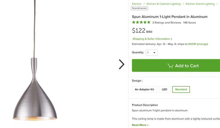 http://www.houzz.com/photos/75867635/Spun-Aluminum-1-Light-Pendant-in-Aluminum-scandinavian-kitchen-island-lighting