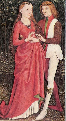 A Bridal Pair, 1400s, South German, Oil on panel The Cleveland Museum of Art, Delia E. Holden and L. E. Holden Funds.