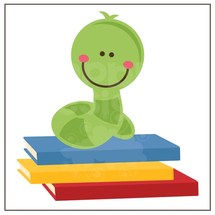 PPbN Designs - Cute Worm on Books (Free for Deluxe and ...