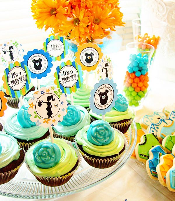 """Colorful """"It's a BOY!"""" Baby Shower // Hostess with the Mostess®"""