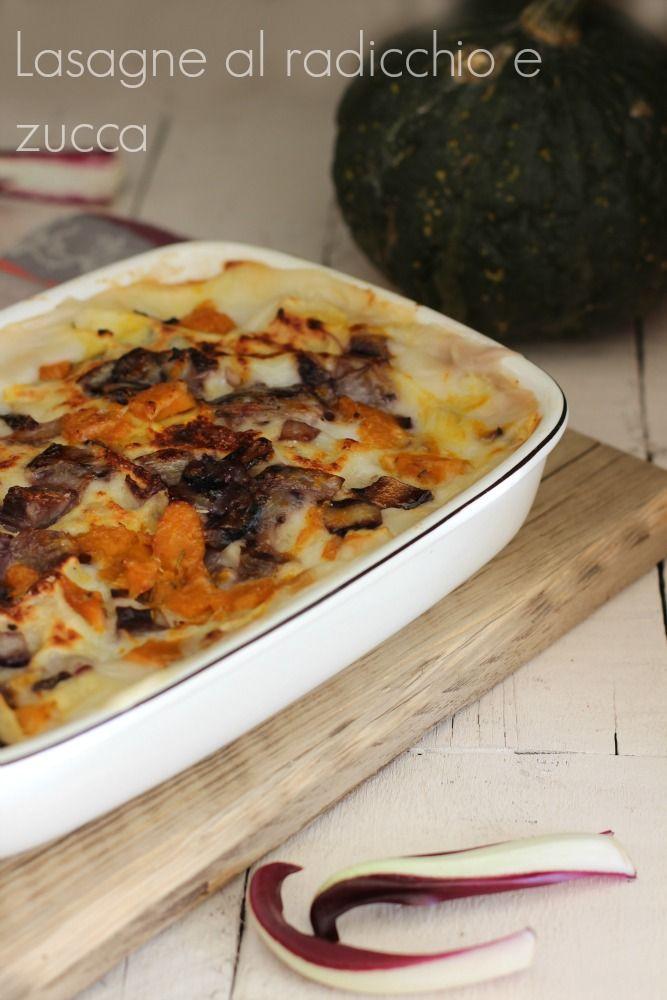 lasagne radicchio tardivo e zucca http://blog.giallozafferano.it/timoelenticchie/lasagne-al-forno-radicchio-treviso-zucca/