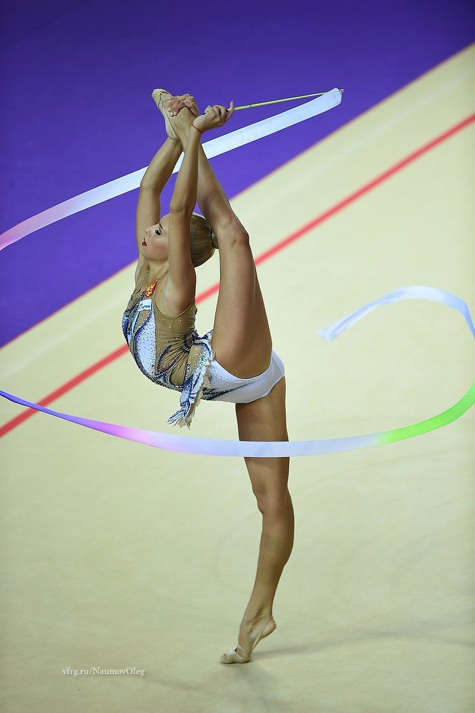 Yana Kudryavtseva (Russia) got 19.250 points for RIBBON in all-around finals at Olympic Games 2016