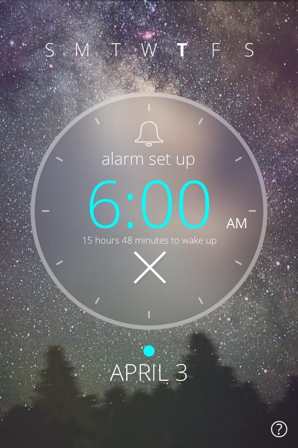 tips and tricks: When setting up your #alarmclock7, check how many hours left until wake up time