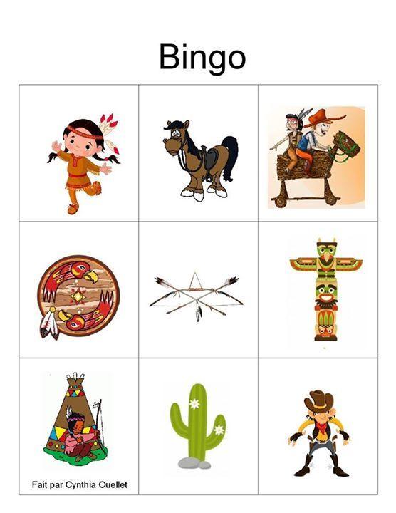 Indianenbingo voor kinderen.