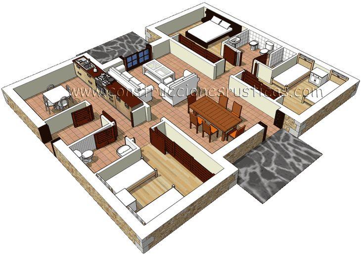 M s de 1000 ideas sobre porches de piedra en pinterest - Modelos de casas de planta baja ...