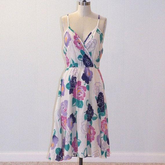 750207744f6 Vintage 80s Sun Dress
