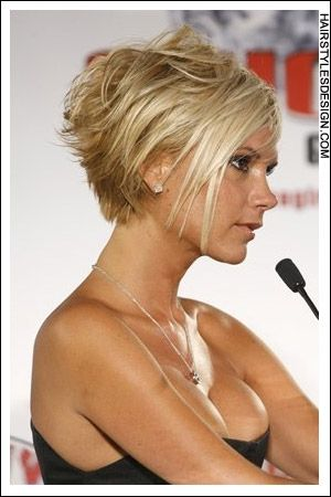 How i think i, cutting my hair! Maybe add some blue or purple highlights toward the back. victoria beckham