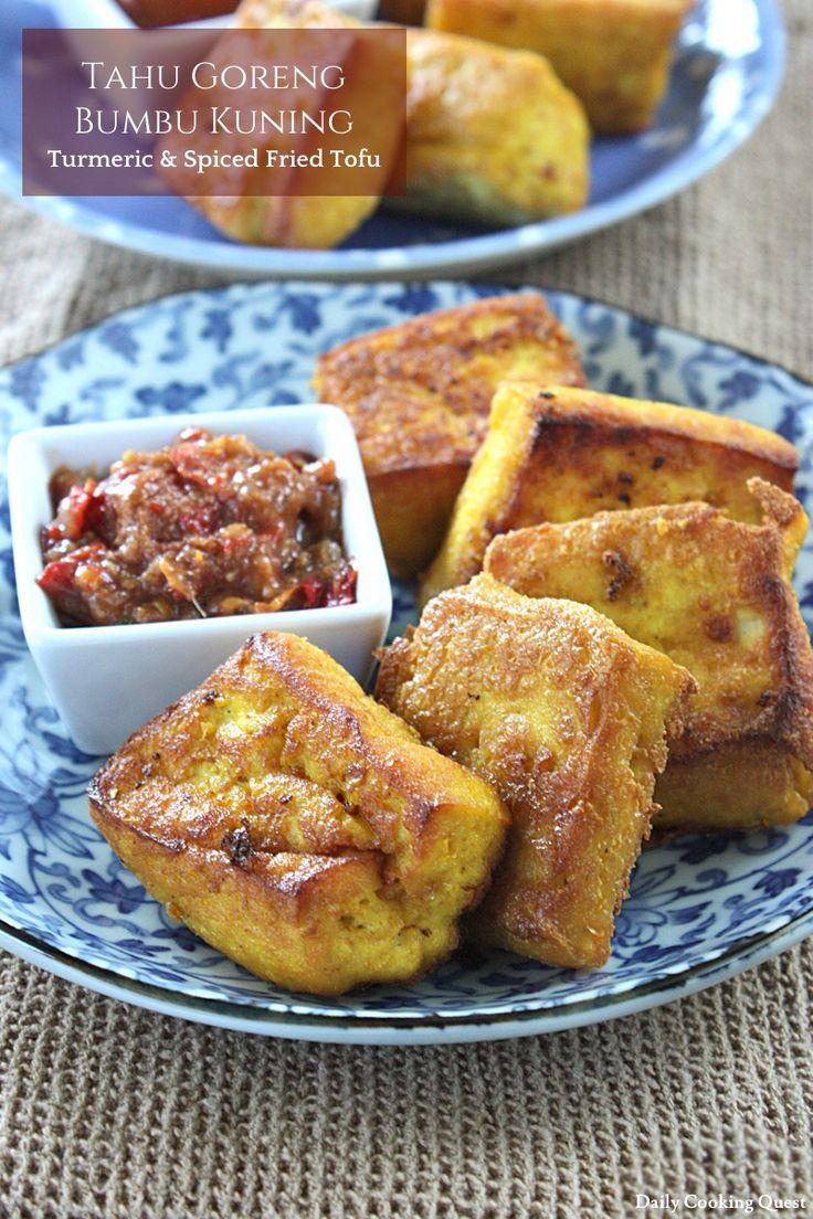 Tahu Goreng Bumbu Kuning – Turmeric and Spiced Fried Tofu