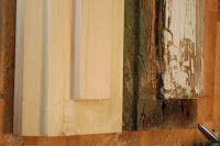 Renovera gamla fönster Bågar karmar. Linoljekitt Bra sida.