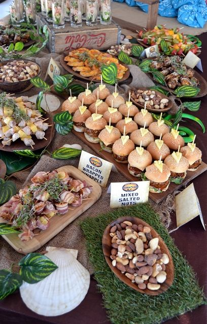 Dinner party themes don't have to take their cues from food or drink: Survivor Party Food for Adults …   Adult birthday party ...