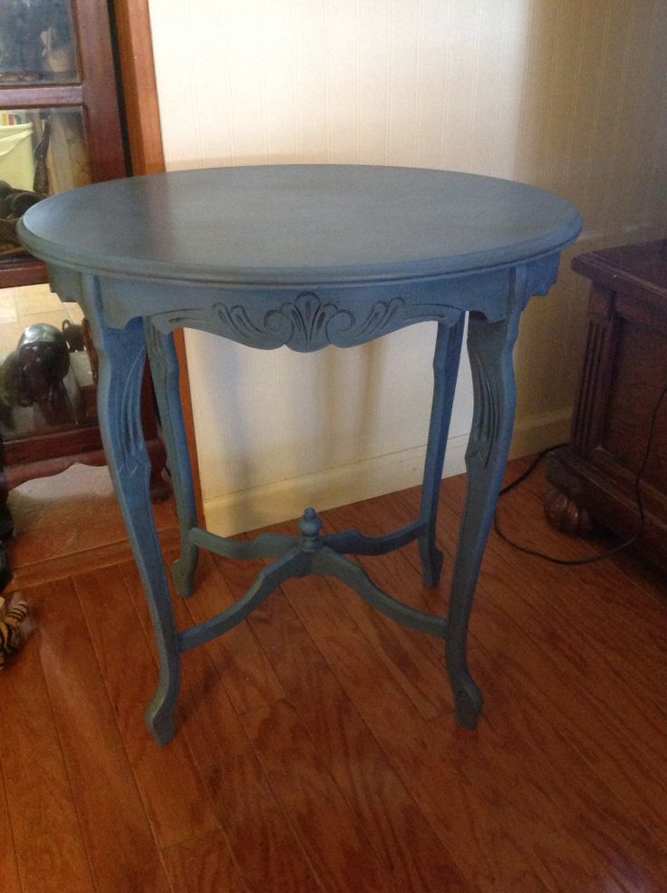 Annie Sloan Greek Blue With Light And Dark Wax Love This
