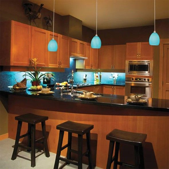 Kitchen Peninsula Lighting: 17 Best Images About LED Pendant Lighting On Pinterest