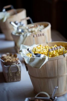 Rustic Wedding Favor - Popcorn Bar