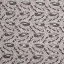 Brown/Light Taupe Misc Printed Cotton Voile