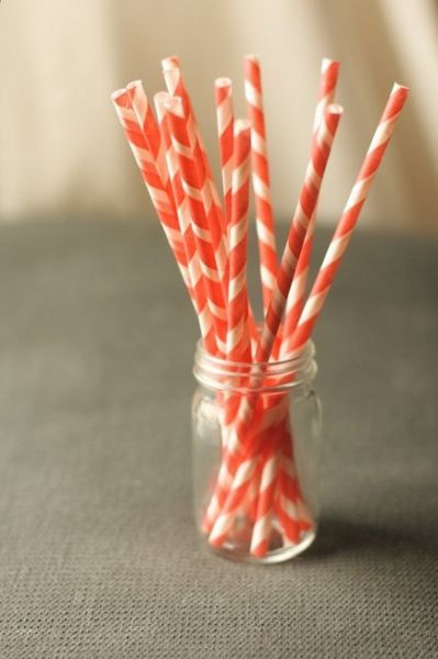 Love these stripey paper straws!