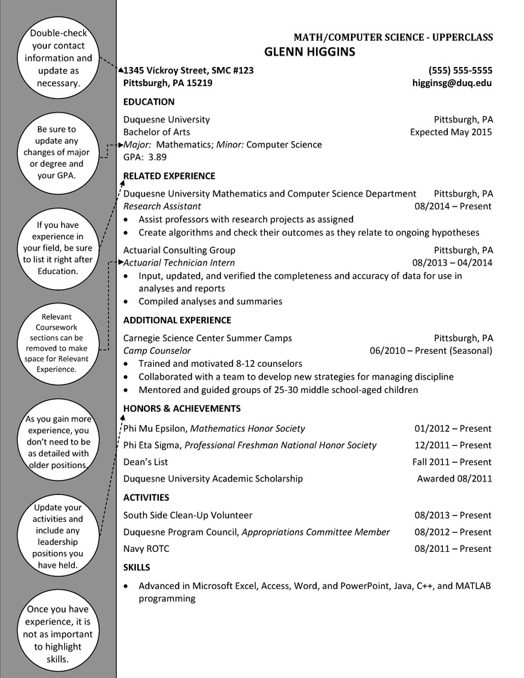 21 best duquesne resume  u0026 cover letter examples images on