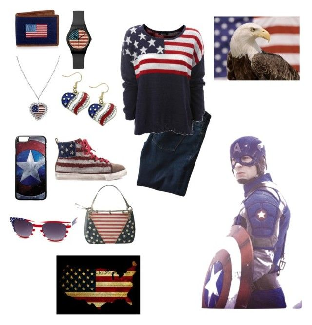 """All American"" by ymccurdy on Polyvore featuring 1928, Penny Sue, Charlotte Russe, DL1961 Premium Denim and MINNA"