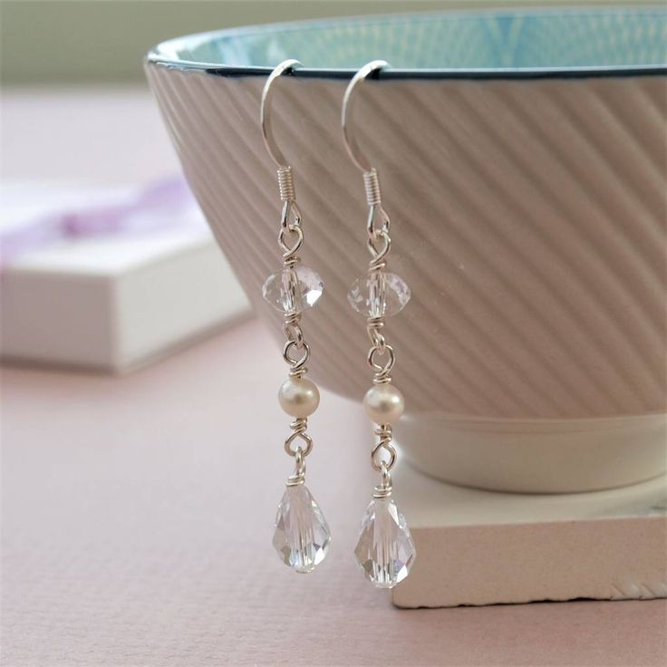 Are you interested in our pearl drop bridal earrings? With our wedding jewellery bridesmaid gift you need look no further.